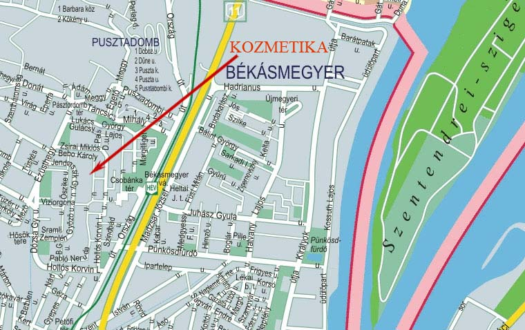 békásmegyer térkép Kozmetika Lugosi Csilla békásmegyer térkép